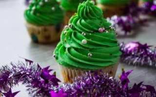 Новогодние капкейки в виде свинки, с кремом, мастикой и други идеи украшения десерта