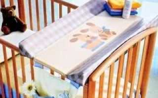 Пеленальная доска с креплением на кроватку, комод, доска для пеленания на ванну – как выбрать?