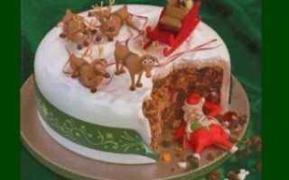 Новогодние торты – украшение новогоднего десерта своими руками. Как украсить новогодний торт кремом или мастикой?
