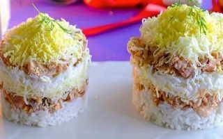 Салат из консервированной горбуши – рецепты с рисом, картошкой, морковью и сыром