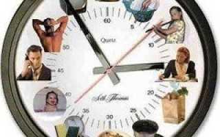 Режим дня – как составить правильный распорядок дня. Биоритмы человека, соблюдение режима дня