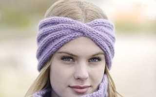 Красивые женские вязаные повязки на голову – с ушками, солоха и чалма, тюрбан и коса, со стразами и камнями