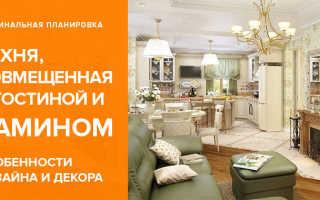 Дизайн гостиной в доме – оформление кухни-гостиной с камином, отделка