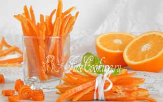 Цукаты из апельсиновых корок – быстрые рецепты приготовления, польза, вред и условия хранения