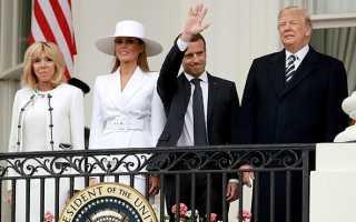 Мелания Трамп и Брижит Макрон появились в похожих образах на мероприятии в Белом доме