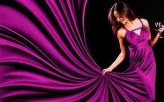 Пурпурный цвет – в одежде, платье, юбка, пальто, пуховик, туфли, сумка, цвет волос, маникюр