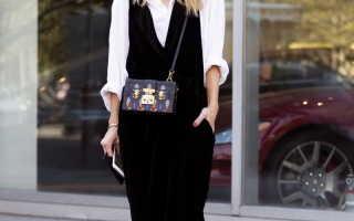 Модный офисный сарафан – лучшие фасоны, модели, цвета, с кружевом, воланом, баской, запахом, на бретельках, деловой, для полных женщин