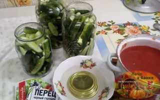 Огурцы в томатном соке – рецепты на зиму без стерилизации, с чесноком, по-грузински и по-корейски