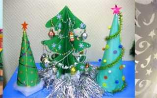 Как делать новогодние поделки в детский сад и в школу, мастер-классы и фото
