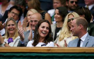 Кейт Миддлтон, принц Уильям, Хью Грант и другие посетили финальную игру Уимблдона
