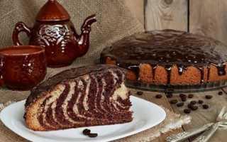 «Зебра» – рецепты кекса, маффинов, печенья и пирога на сметане, кефире, молоке
