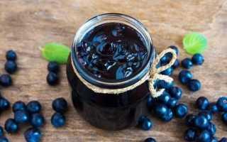 Варенье «Пятиминутка» из черники с целыми ягодами, в виде желе, в мультиварке и с земляникой