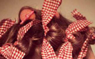 Как накрутить волосы на тряпочки – пошаговая инструкция. Как сделать бигуди из тряпочек?