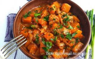 Жаркое – рецепты в сковороде, мультиварке, духовке, в тыкве из разных видов мяса
