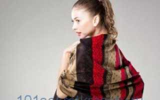 Как красиво завязать палантин на шее, голове, пальто, платье, пуховик, шубу, куртку, дубленку?