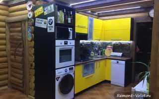 Дизайн кухни в деревянном доме – идеи для отделка потолка, фартука, штор