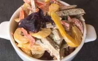 Рецепт салата из говядины отварной или жареной, с фасолью, луком и болгарским перцем