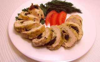 Курица с черносливом фаршированная в духовке – рецепты салата, рулета и плова