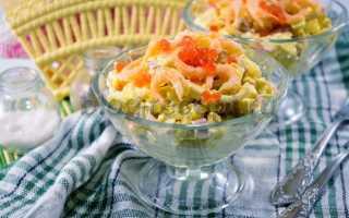Морской салат – рецепты с морским коктейлем, кальмарами, креветками и крабовыми палочками