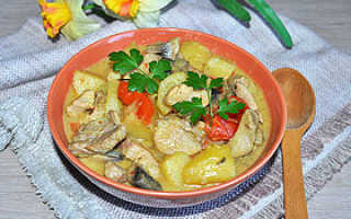 Мясо тушеное с овощами – рецепт из свинины, курицы, кролика и говядины с подливкой