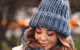 Самые модные женские вязаные шапки 2020 – с ушками, помпоном, отворотом, крупной вязки