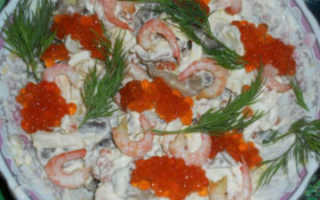 Блюда с креветками – рецепты спагетти в сливочном соусе, супа, ризотто и салата «Царский» с креветками и красной икрой