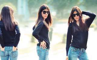 Модные женские джинсы-клеш – от колена, бедра, длинные, укорочнные, кому идут и с чем носить?