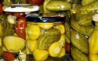 Маринованные патиссоны на зиму – по корейскому рецепту, с огурцами, помидорами и в заливке