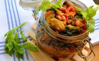 Баклажаны с фасолью на зиму – лучшие рецепты салатов, закусок, лечо и чанахи по-грузински