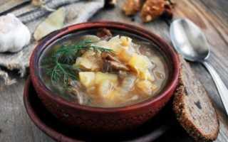 Постные щи из квашеной капусты – рецепты с фасолью, грибами, перловкой и пшеном