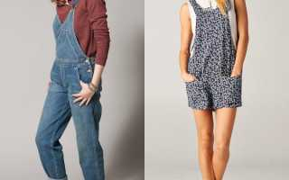 Женский джинсовый комбинезон – летний и утепленный, черный и белый, юбка и шорты