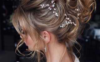 Модные свадебные прически 2020 года – на короткие, средние и длинные волосы, с челкой, косами, фатой, диадемой, короной, цветами