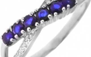 Модное кольцо с сапфиром – золотое, серебряное, обручальное, серьги и кольца с натуральными сапфирами