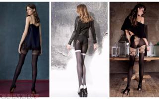 Черные колготки – капроновые, плотные, блестящие, с рисунком, иммитацией чулок, фантазийные, с чем носить?