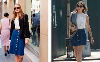 Женская джинсовая юбка с пуговицами спереди – длинная, миди и короткая, трапеция, карандаш, с завышенной талией, с чем носить?