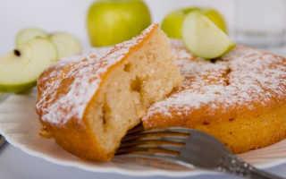 Очень вкусный воздушный манник на кефире в духовке и мультиварке, с яблоками и лимоном