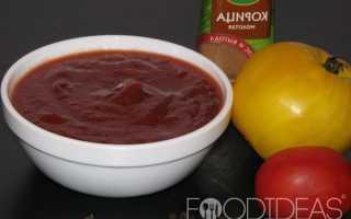 Кетчуп с яблоками в домашних условиях с добавлением помидоров, лука и слив