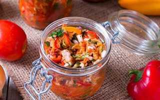 Салат со скумбрией на зиму с баклажанами, свеклой, фасолью и рисом