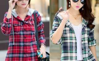 Модная женская рубашка в клетку – красная и синяя, черно-белая и розовая, длинная и короткая