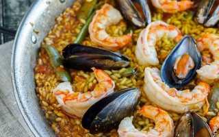 Паэлья с морепродуктами – классические испанские рецепты с креветками, мидиями и кальмарами