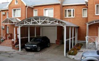 Навесы для автомобилей – особенности конструкций из металла, дерева, стекла и поликарбоната