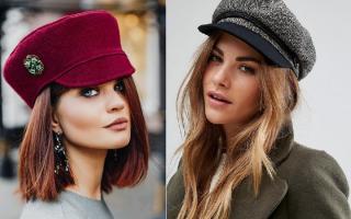 Модные женские шапки 2020 – меховые, бини, с козырьком, крупной вязки, с отворотом, косами, ушками, ушанка, бубон, капор, образы