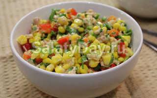 Салат с консервированным тунцом – простой рецепт с яйцом, фасолью, рукколой и кукурузой