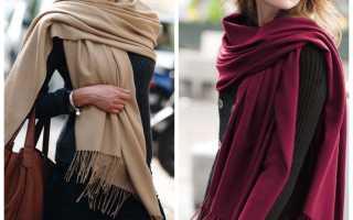 Модное женское пальто без воротника – зимнее, летнее, прямое, пиджак, реглан, с круглым вырезом, как завязать платок, шарф, палантин?