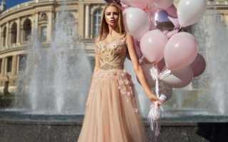 Красивое персиковое платье – длинное, короткое, сарафан, с цветами, вечернее, кружевные, коктейльное, пышное, свадебное, на выпускной, для подружек невесты