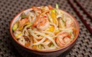 Лапша «вок» – рецепты с курицей, овощами, креветками, свининой и морепродуктами