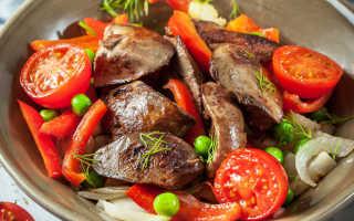 Теплый салат с куриной печенью – рецепты с грушей, апельсином, грибами и рукколой