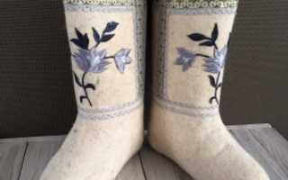 Модные женские валенки – с помпоном, вышивкой, рисунком, на каблуке, молнии, липучке, шнуровке