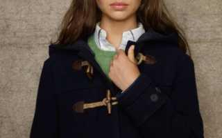 Модное пальто женский дафлкот – зимний, с капюшоном, в клетку, синий, голубой